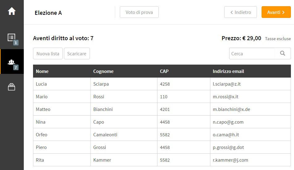 Controllare la lista elettori online